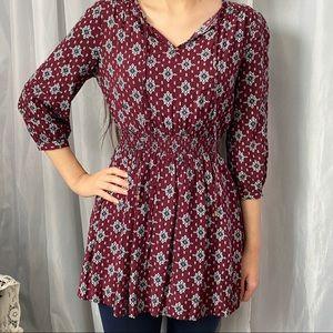 Forever 21 Burgundy Tunic Mini Dress Size Small